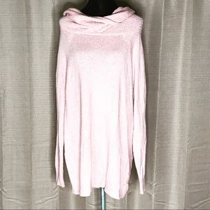 PINK ROSE COWL NECK SOFT TUNIC SWEATER TOP XL #32